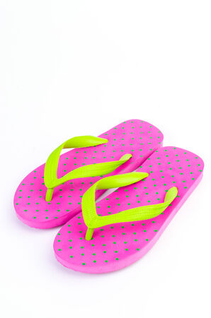 Slippers flip flops on isolated white background Stock Photo - 24194561