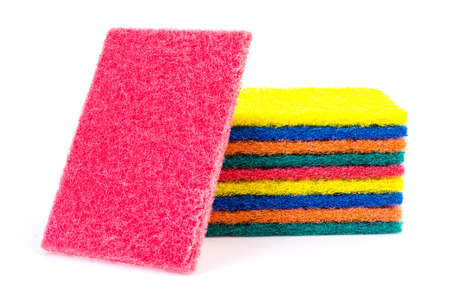 scrub: Sponge scrub on isolated white background