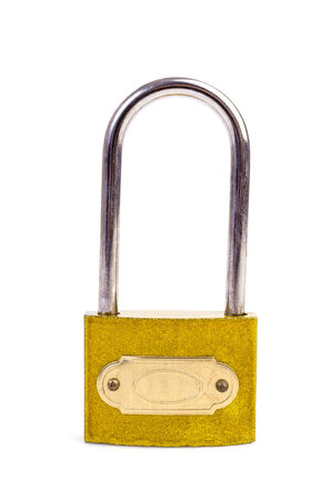 Lock on isolated white background photo