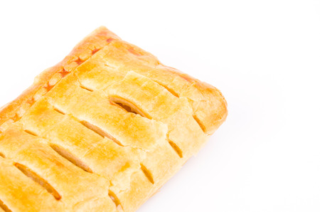 Apple pie on white background photo