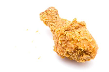 Fried chicken on white background photo