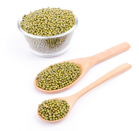 Green beans on white background Stock Photo - 24196076