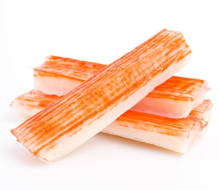 Imitation Crab Stick on white background photo