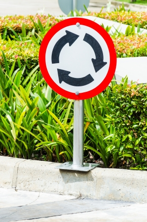 Traffic circle sign photo