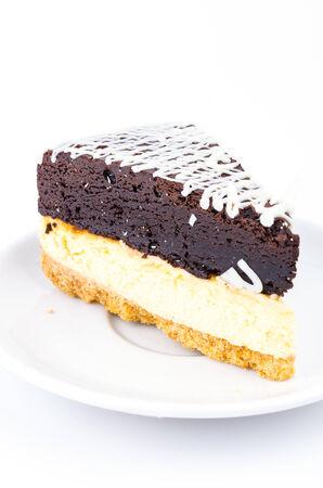 Brownie cheese cake photo