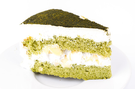 Green tea cake  photo