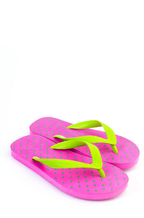 Slippers flip flops on isolated white  photo