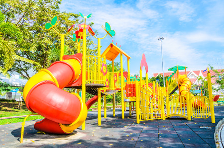 Outdoor Playground in the park photo