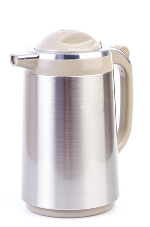 Kettle on isolated white  photo