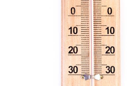 Thermometer on isolated white  photo