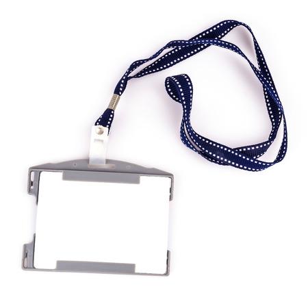 Nametag on isolated white background photo