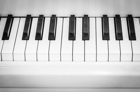 Piano Keyboard , Black and white style picture photo