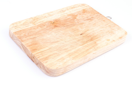 Cutting board on isolated white background photo