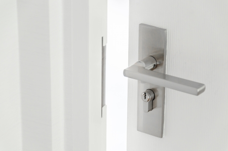 door handle: Handle steel knob on the door