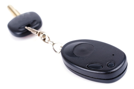 Car key on isolated white background photo