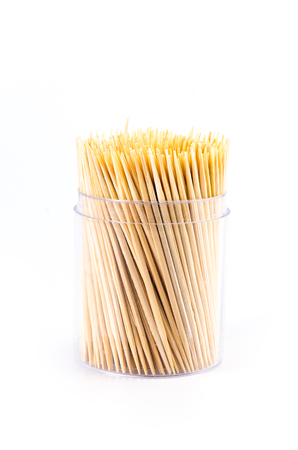 Toothpick on isolated white photo