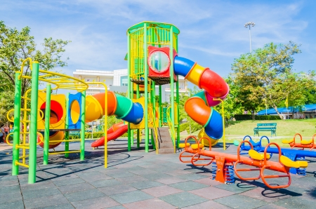 Outdoor Playground in the park