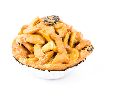 Tart on white background photo