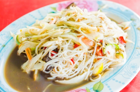 Spicy Papaya salad photo