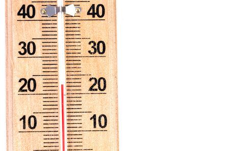 Termometer on isolated white background photo