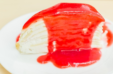 Strawberry crepe cake photo