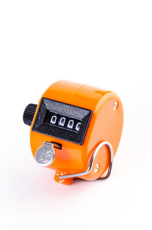 Tally Counter on isolated white background photo