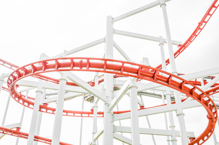 looping: Roller coaster Stock Photo