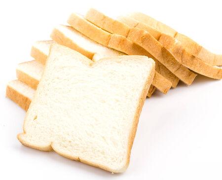 Bread on white background photo