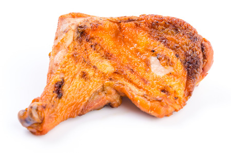 Grilled chicken on isolated white background photo