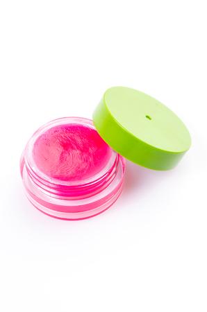 Lip balm on isolated white background Stock Photo