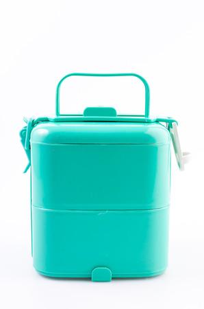 Tiffin box on isolated white background photo