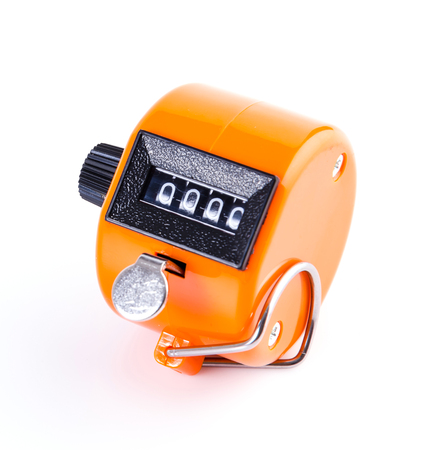 Tally Counter isol� sur fond blanc photo