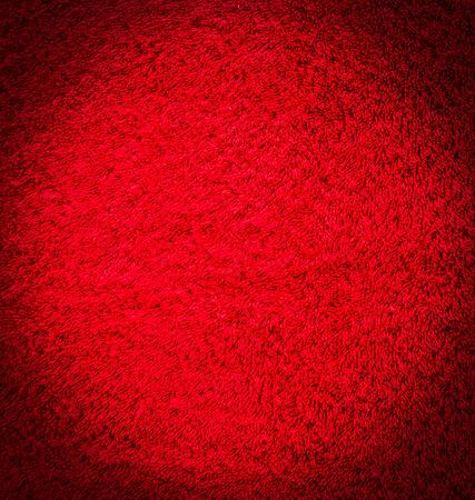 hilo rojo: Textura de algod�n rojo para el fondo Foto de archivo