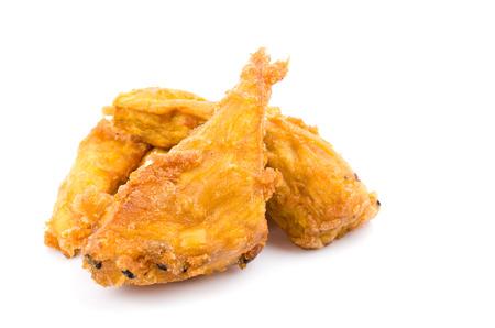 Fried yam on white background photo