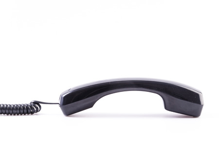 Black Telephone on isolated white background photo