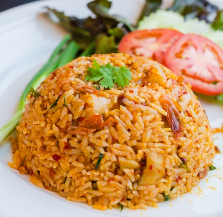 Spicy Fried rice Imagens
