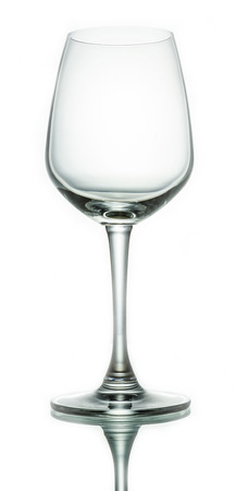 Wine glass on white background photo