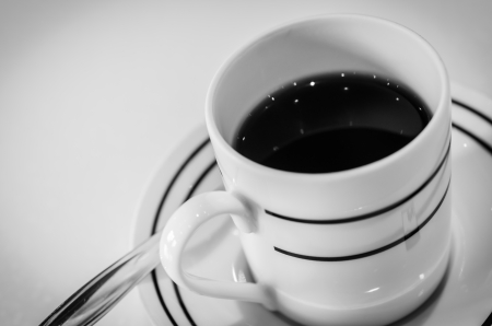 Coffee cup (Procress in Black&white style) photo