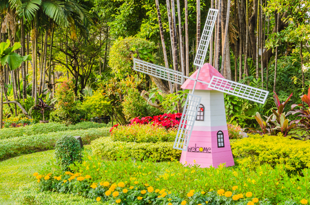 Windmill in the garden photo
