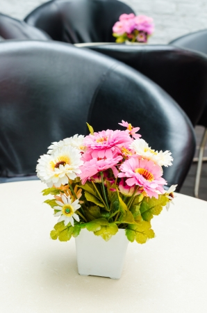 Fake Flowers In Vase Stock Photo Picture And Royalty Free Image