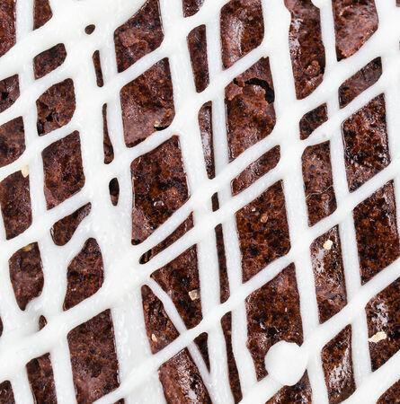Brownie cheese cake texture photo