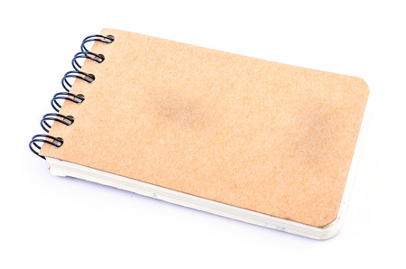 Note book on isolated white background photo