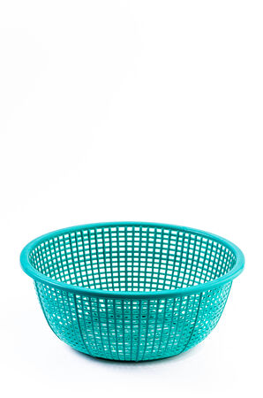 retail equipment: Plastic basket on isolated white background