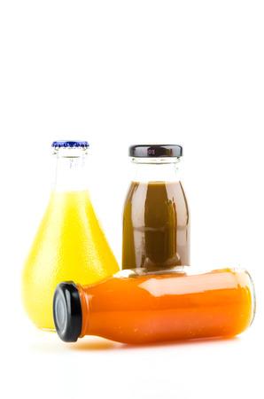 juice bottle: Vegetable juice bottle isolated white background Stock Photo