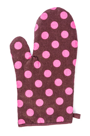 Oven glove on isolated white background photo