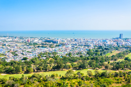 Cityscape in phetchaburi thailand photo