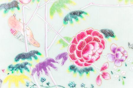 flower tile background photo