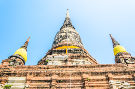 Wat Yai Chaimongkol temple in ayutthaya Thailand photo
