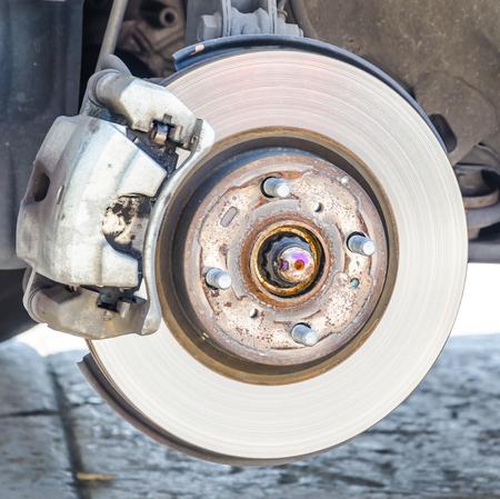 oil change: disc brakes Stock Photo