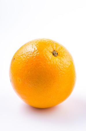 navel orange: Orange fruit on isolated white